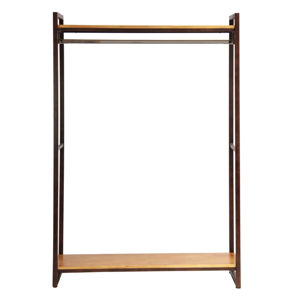 Kệ treo quần áo khung chân sắt mặt gỗ GHT-138 đẹp lung linh nhất TpHCM