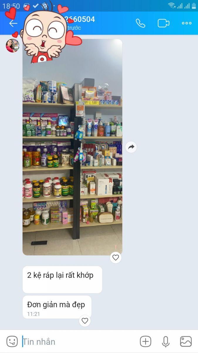 Cảm nhận của  Chị Vân Bình Tân khi mua kệ trung bày sản phẩm GHK-305 lần 2