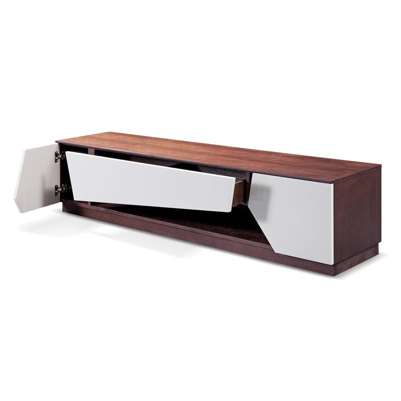 Kệ tivi gỗ trang trí màu sồi nâu GHK-319