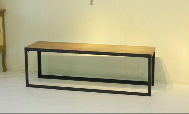 Bàn ghế quán ăn khung chân sắt V mặt gỗ thông New Zealand NT-151