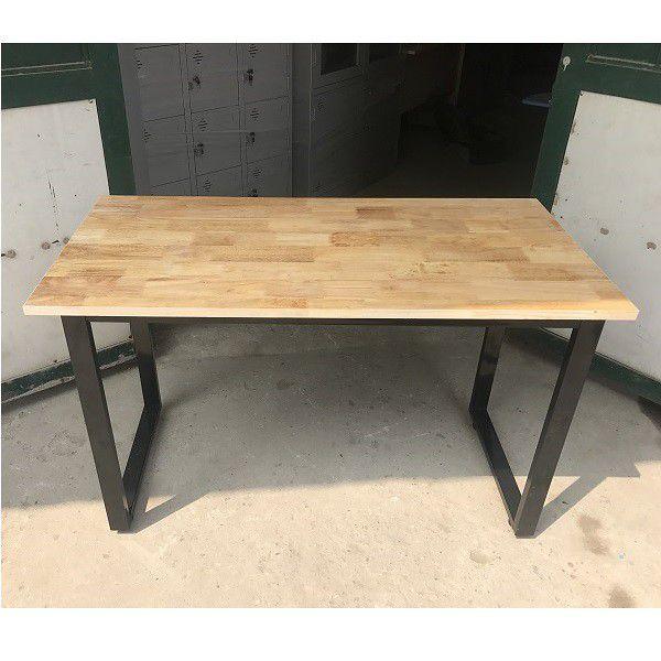 Bàn làm việc chân sắt chữ U sơn tĩnh điện - mặt gỗ cao su GHB-79 giá quá rẻ