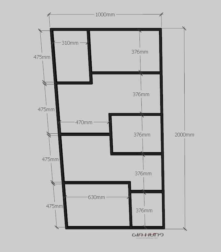 Kích thước kệ trang trí khung chân sắt mặt gỗ GHK-264 vang danh 4 cõi như thế nào?