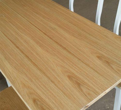 Bàn ghế quán ăn, quán nhậu GHT-248 sử dụng gỗ cao su phủ vân sồi và keo