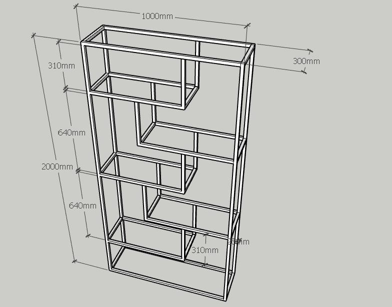 Thông số kỹ thuật kệ trang trí khung chân sắt mặt gỗ cao su GHK-23