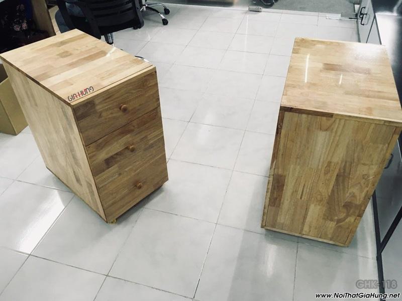 Tủ hồ sơ để dưới bàn làm việc gỗ cao su GHT-118 giá tốt tại TpHCM